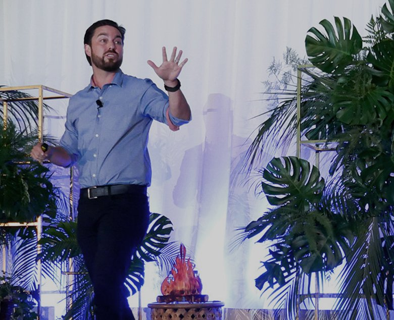 mike mothner on stage at challenger summit 2018