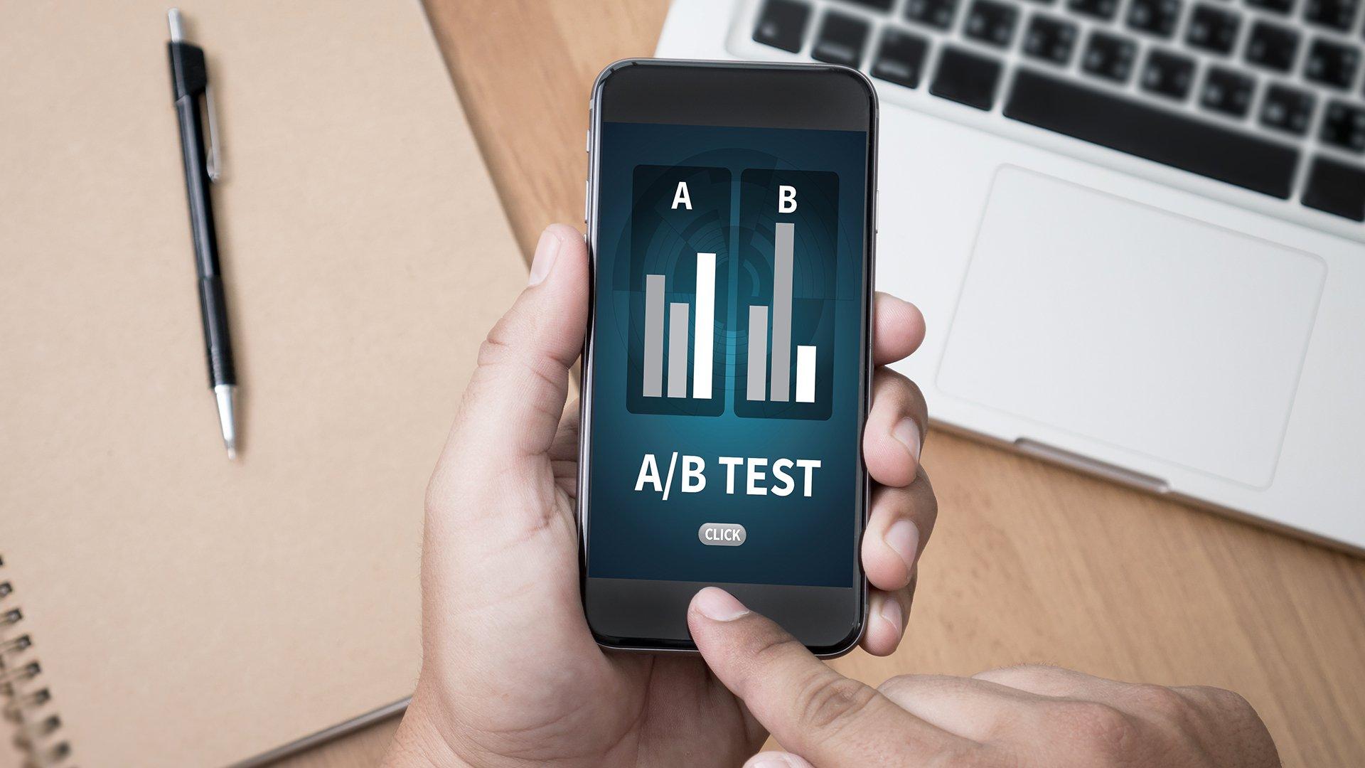 A/B testing charts