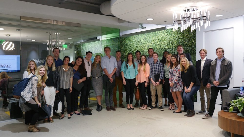 CU Boulder students at wpromote headquarters
