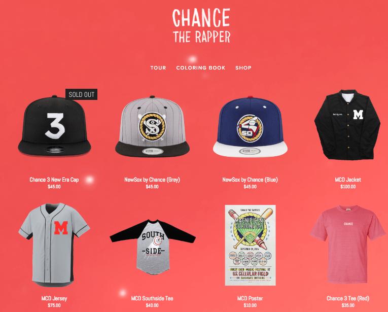 chance the rapper shop