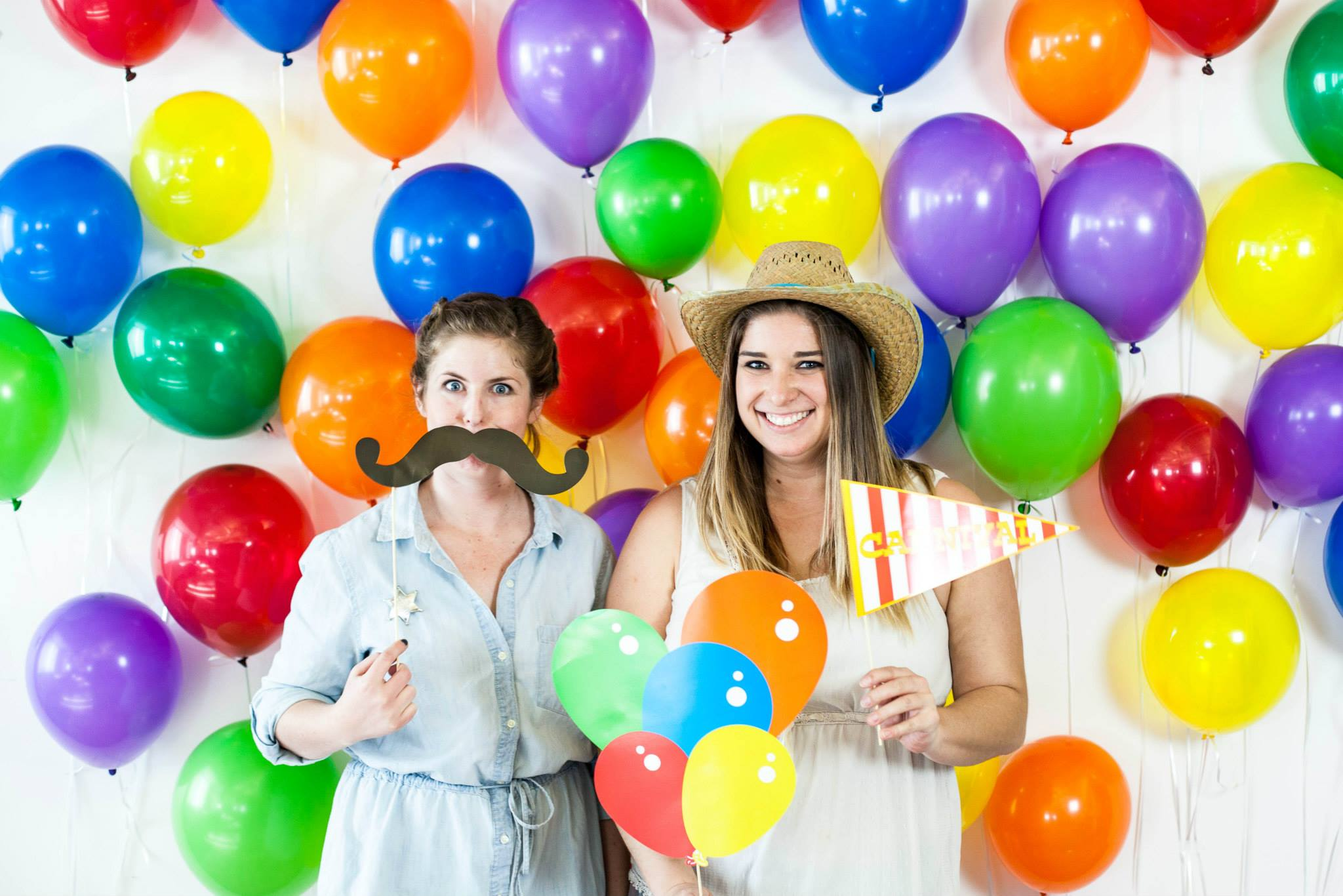 Photo of Hannah & Anne with balloon background