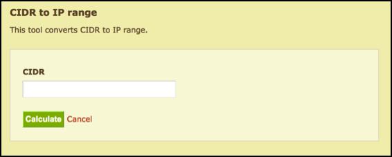CIDR to IP range tool