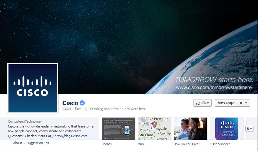 Cisco Facebook