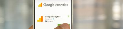 Phone showing Google analytics