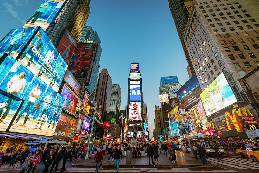 Amazing vibrant Times Square