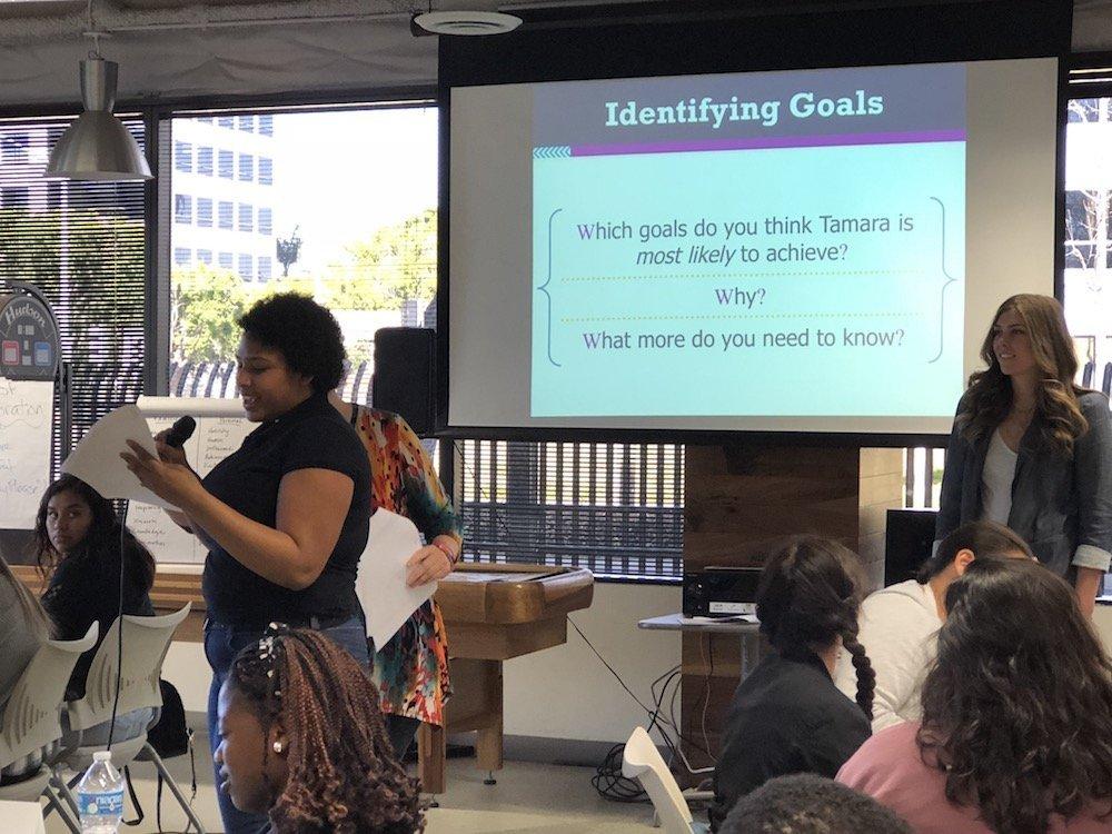 attendees sharing their goals