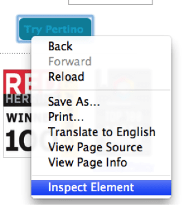 inspect element