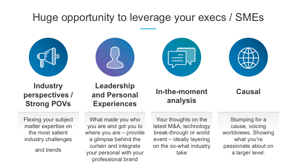 graphic about leveraging executives