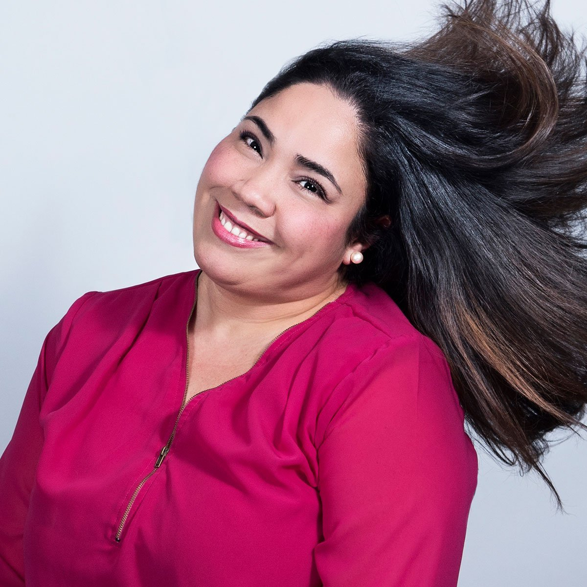 Lorraine Santiago-Poventud hair flip