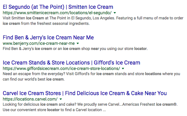 "Search results for ""ice cream near me"""