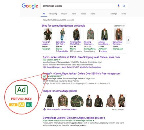 google paid search ad image change