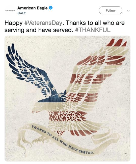 American Eagle instagram post