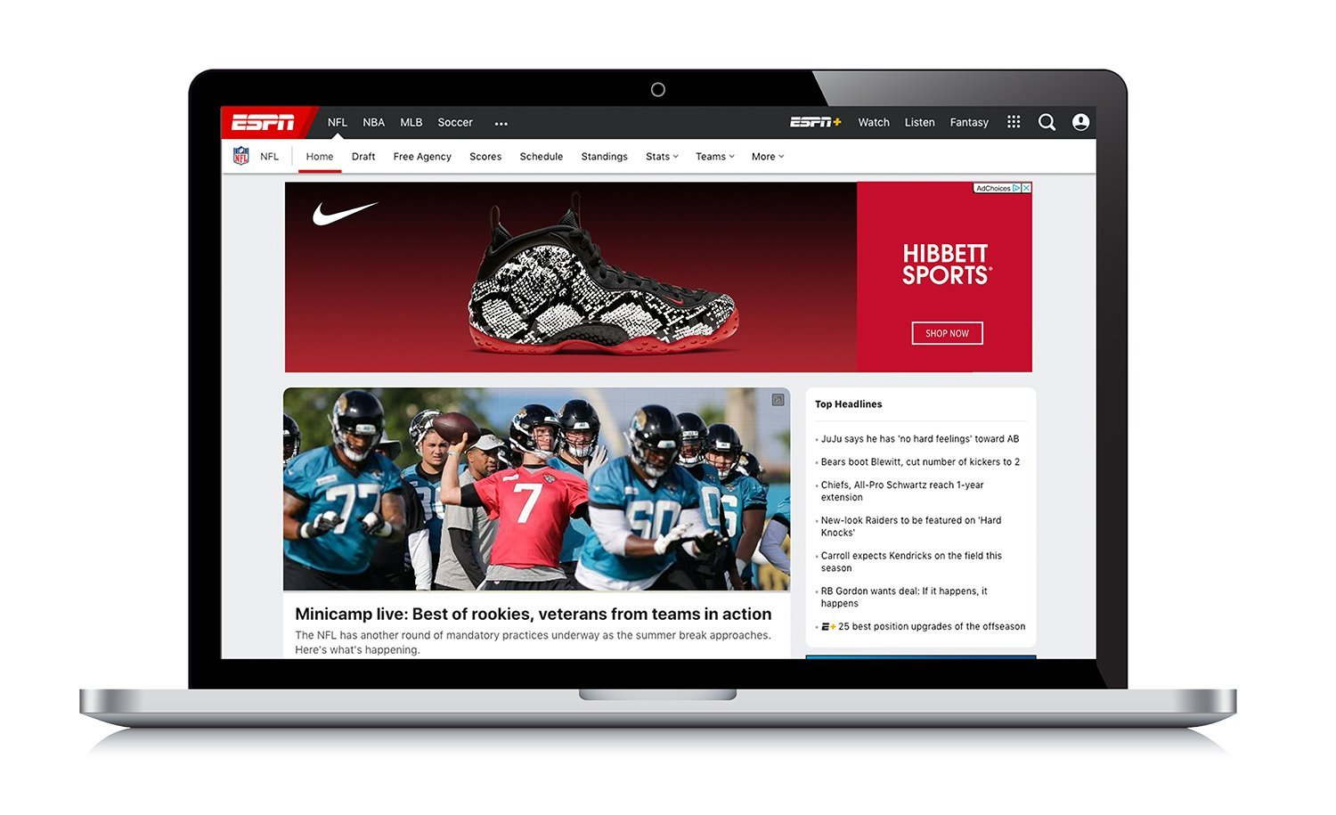 Example of Hibbett Sports Banner Ad