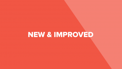 "Text that says ""New & Improved"" on red background"