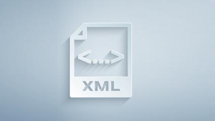 3d icon of xml code