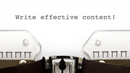 Typewriter typing effective content for SEO