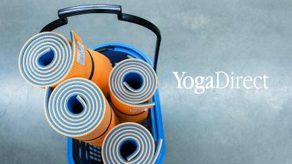 Yoga mats in shopping basket