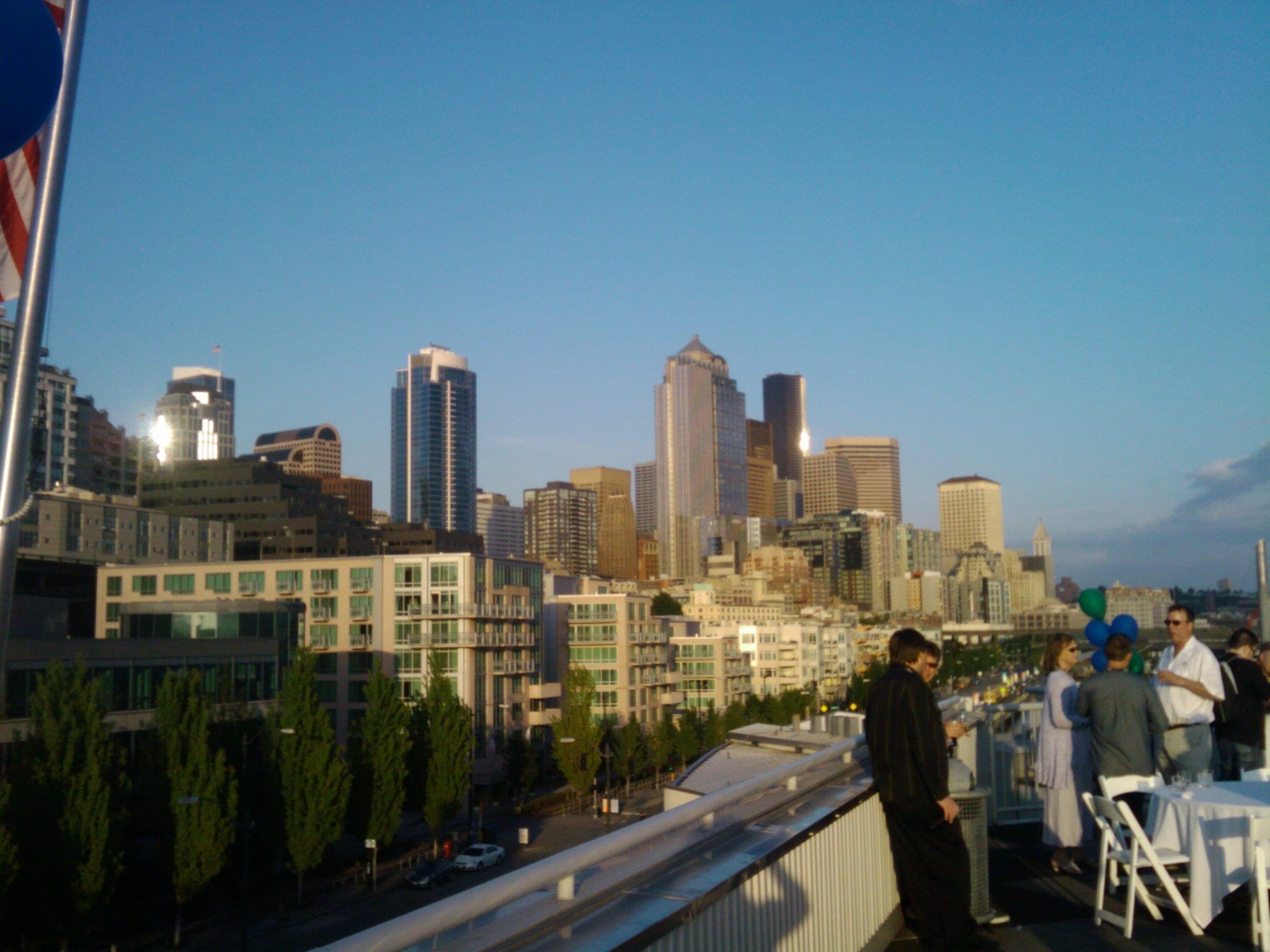 seattle skyline as viewed from conference