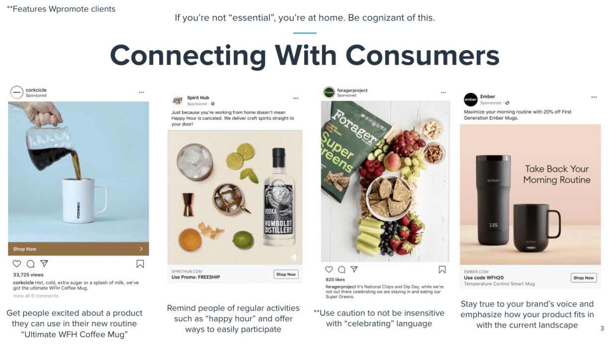examples of brands connecting with their consumers through paid social