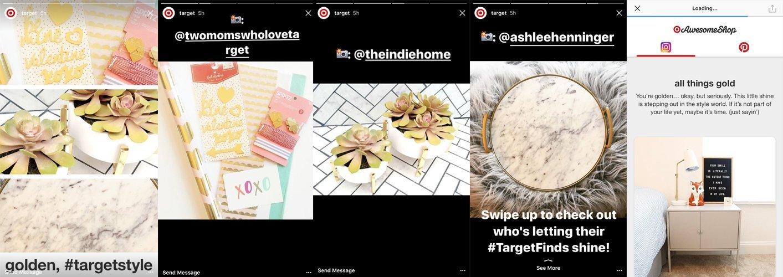 Target Instagram story example.