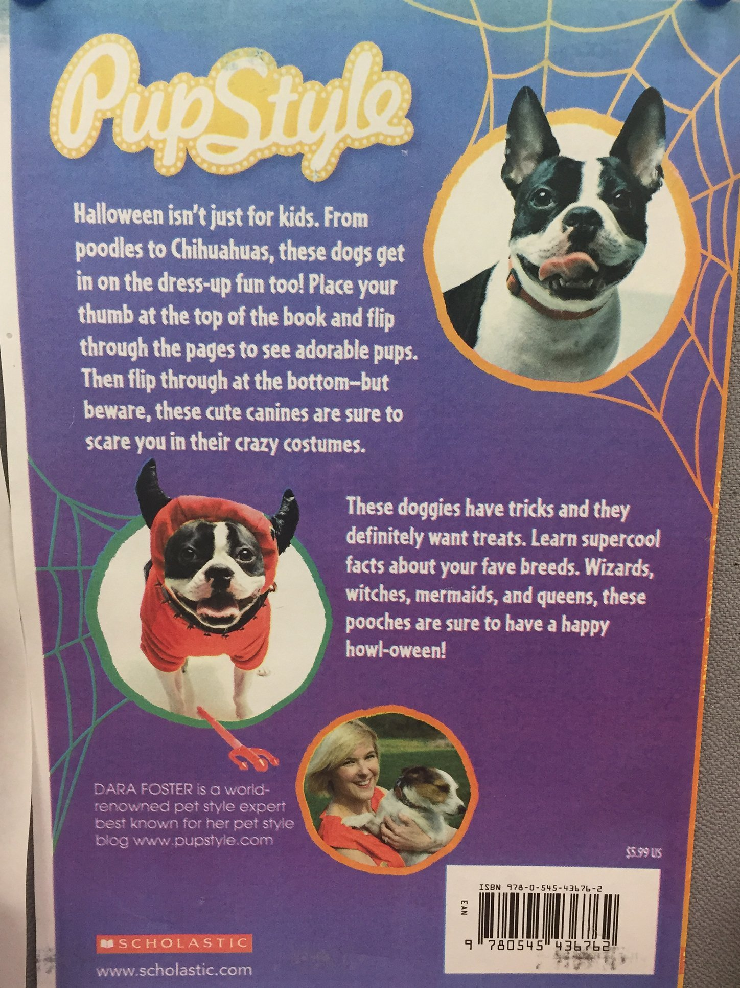 Tucker the pup feature in Scholastic book Pup Style