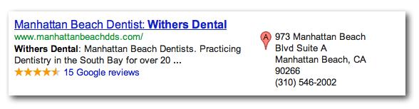 manhattan beach dentist local paid search ad