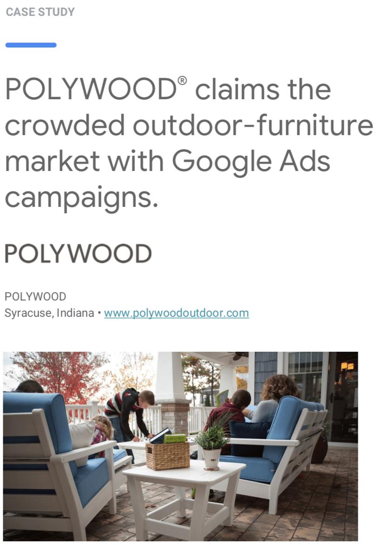 polywood google case study screenshot