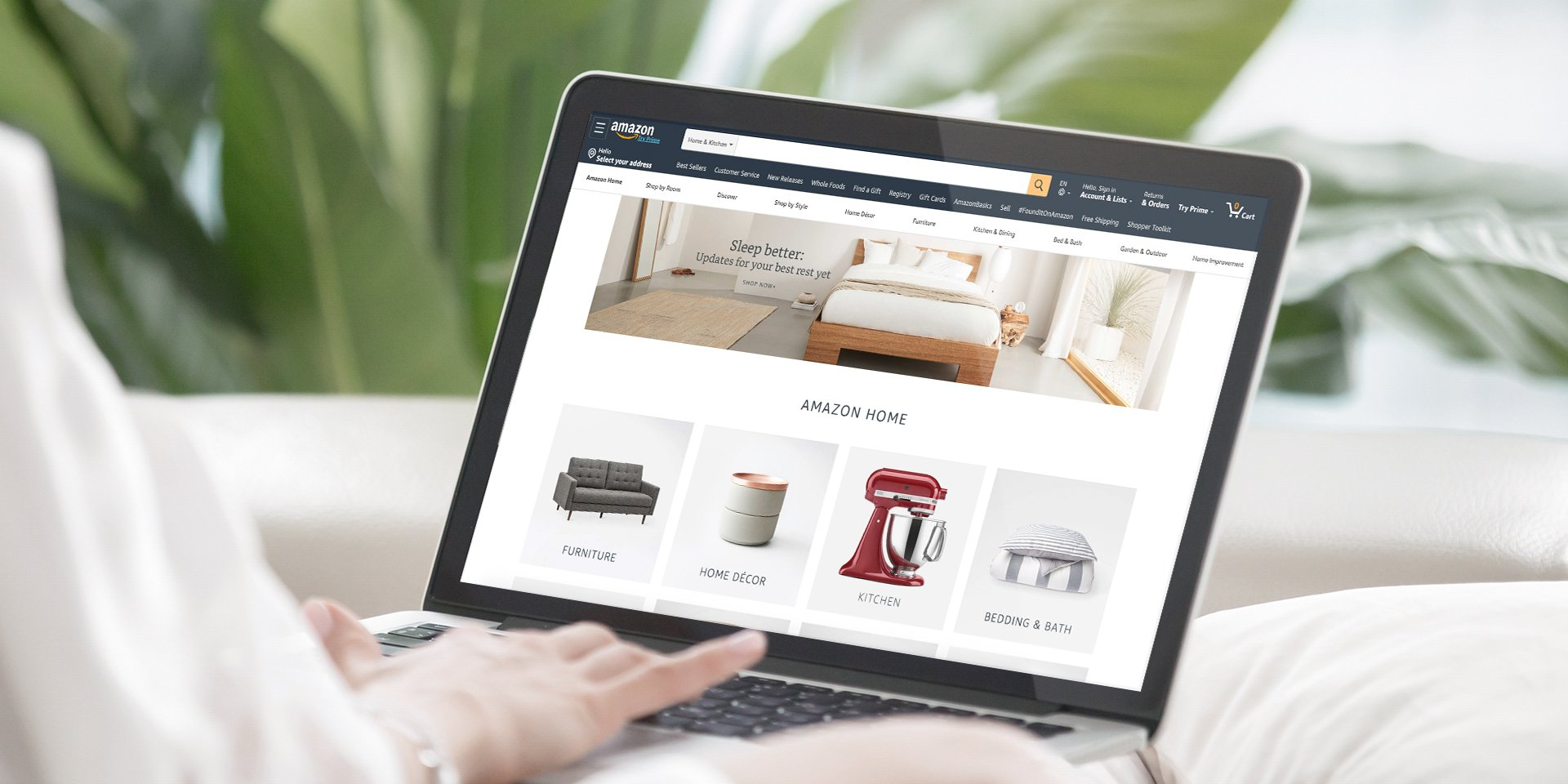 Shopping on Amazon Home