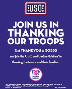Baskin-Robbins and United Service Organization ad