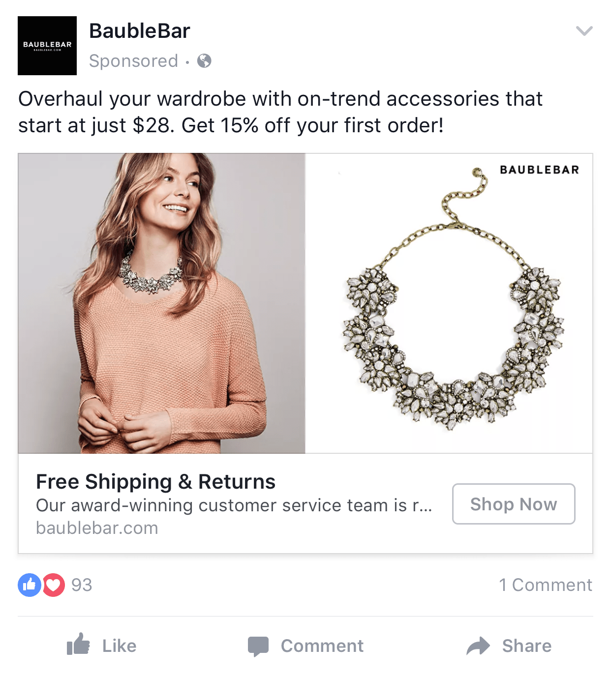 baublebar product sponsored ad