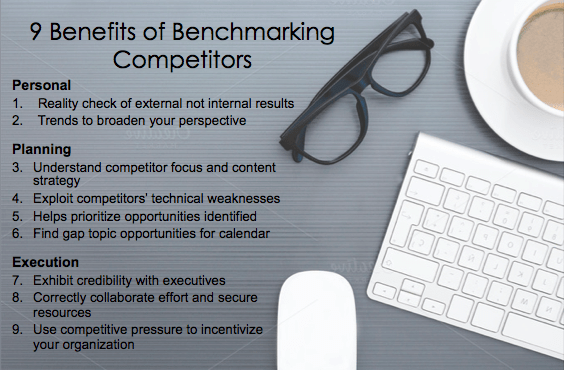 9 benefits of benchmarking competitors