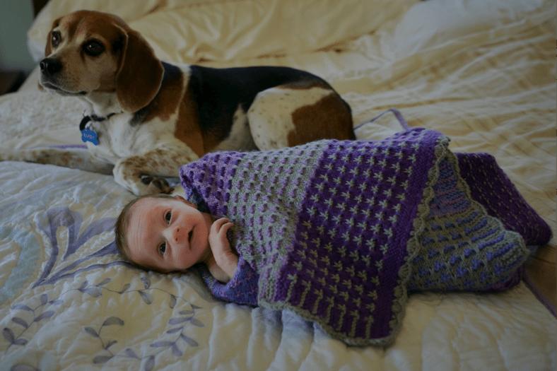bixby with newborn matilda