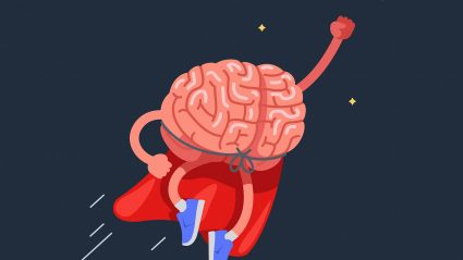 superhero brain illustration