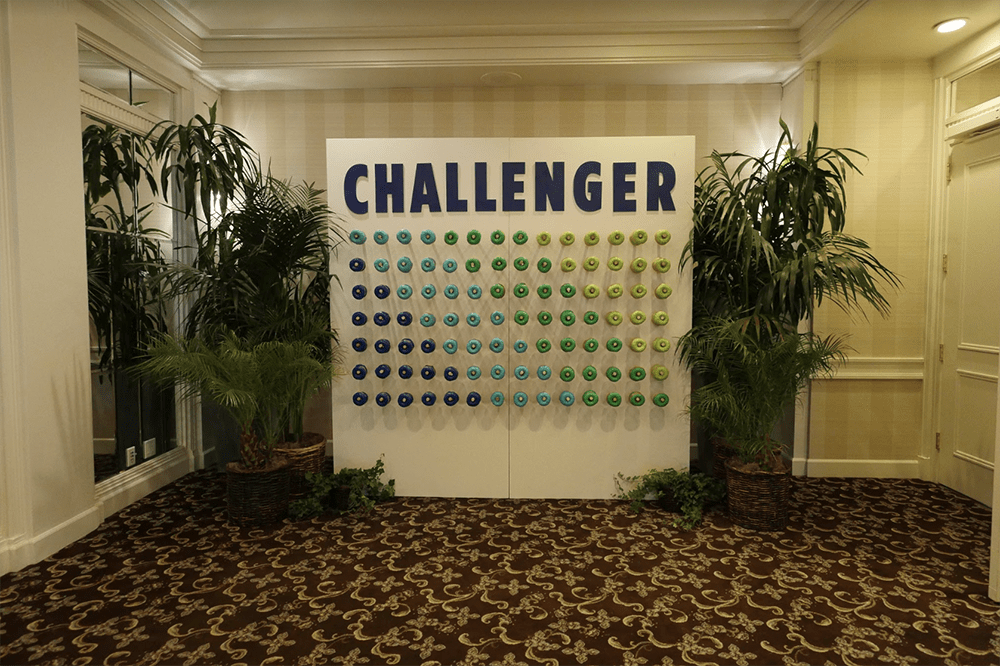 Doughnut wall for challengers at the Challenger Summit.