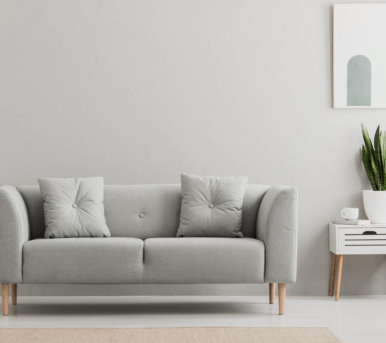 grey minimal living room furniture