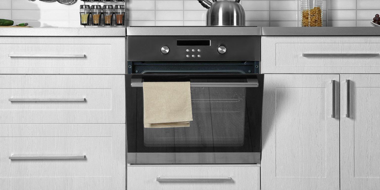 kitchen appliances in white kitchen
