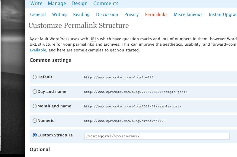 WordPress Custom Permalink Structure