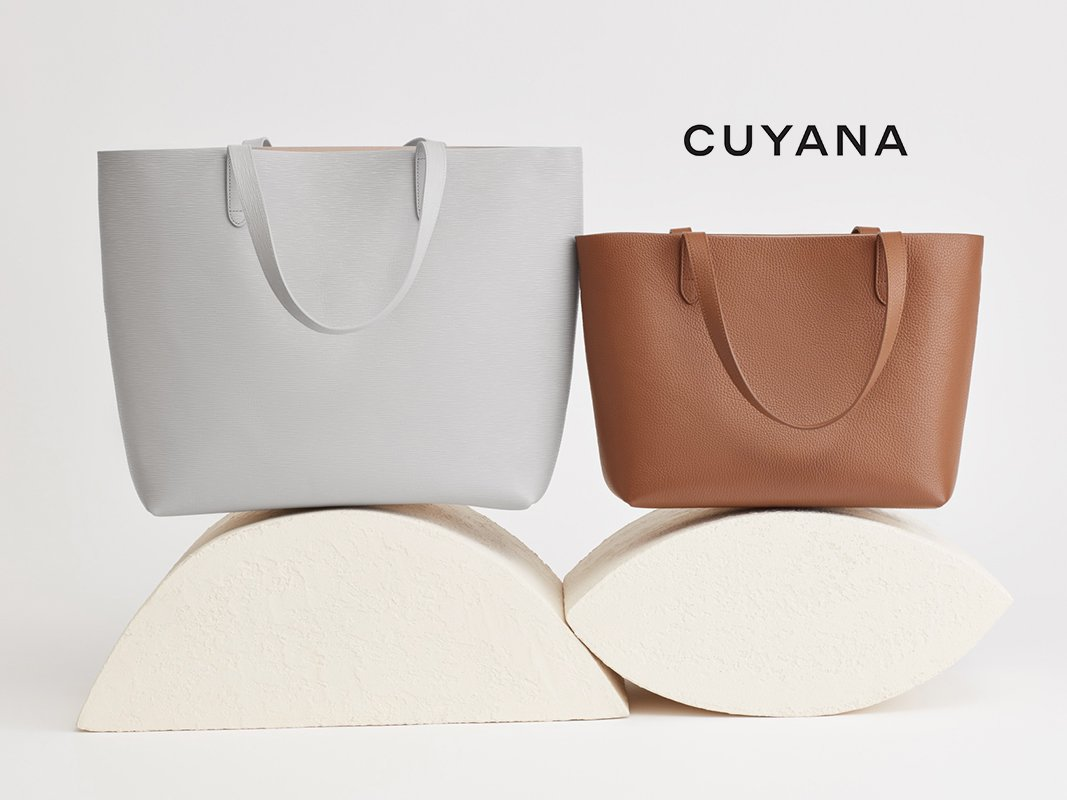 Cuyana leather tote bags