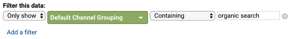 Adding a default channel grouping to a filter in Google Analytics.