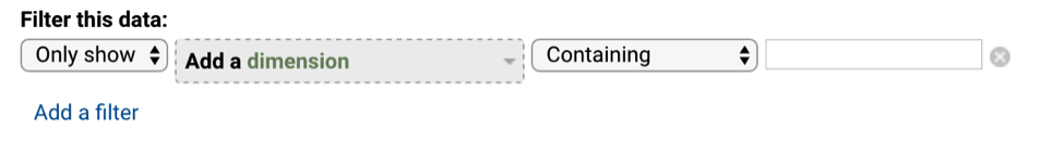 Adding a dimension to a filter in Google Analytics.