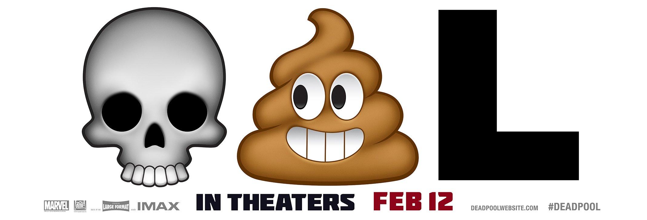Deadpool ad using emojis