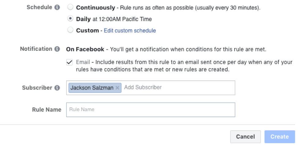 Set a subscriber