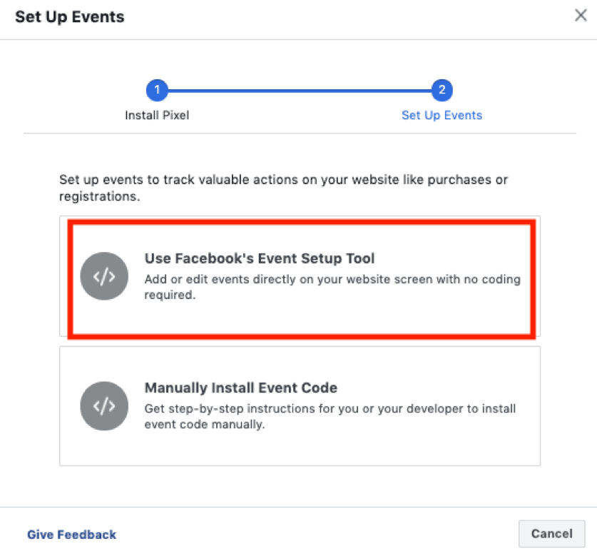 Facebook Event Set Up Tool