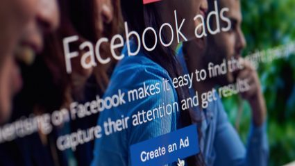 close up of screen of facebook ads homepage