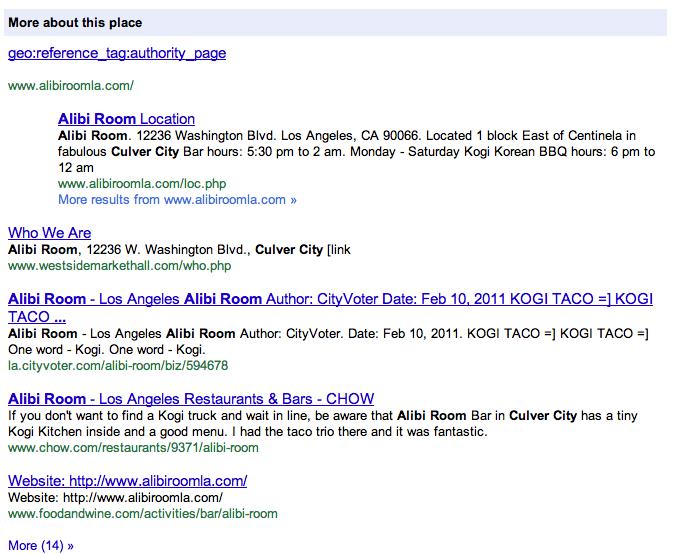 screenshot of Google citations