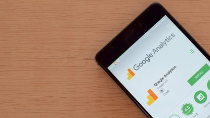 google analytics screen on phone