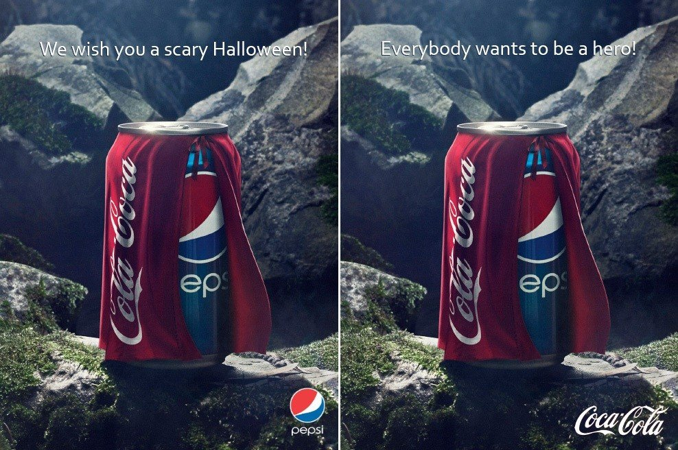 Pepsi and Coke ads