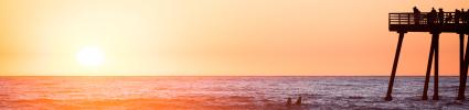 Summer sunset at beach