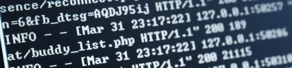 Screenshot of close up html