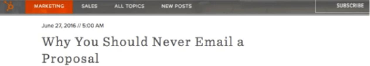 "Blog headline with ""negative angle"" format"